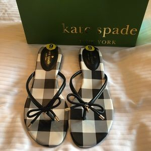 Kate Spade black with gingham design.